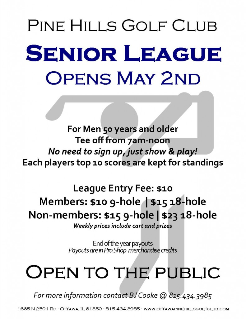 2019 Sr League Flyer