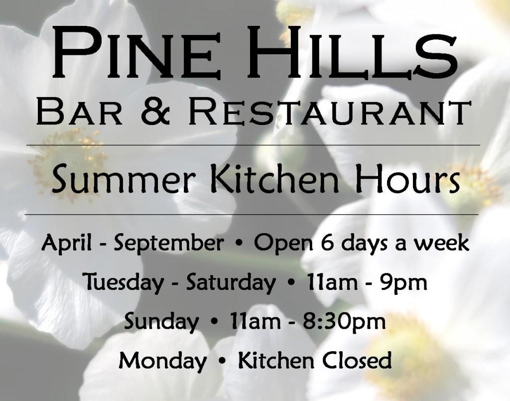 summer hours kitchen