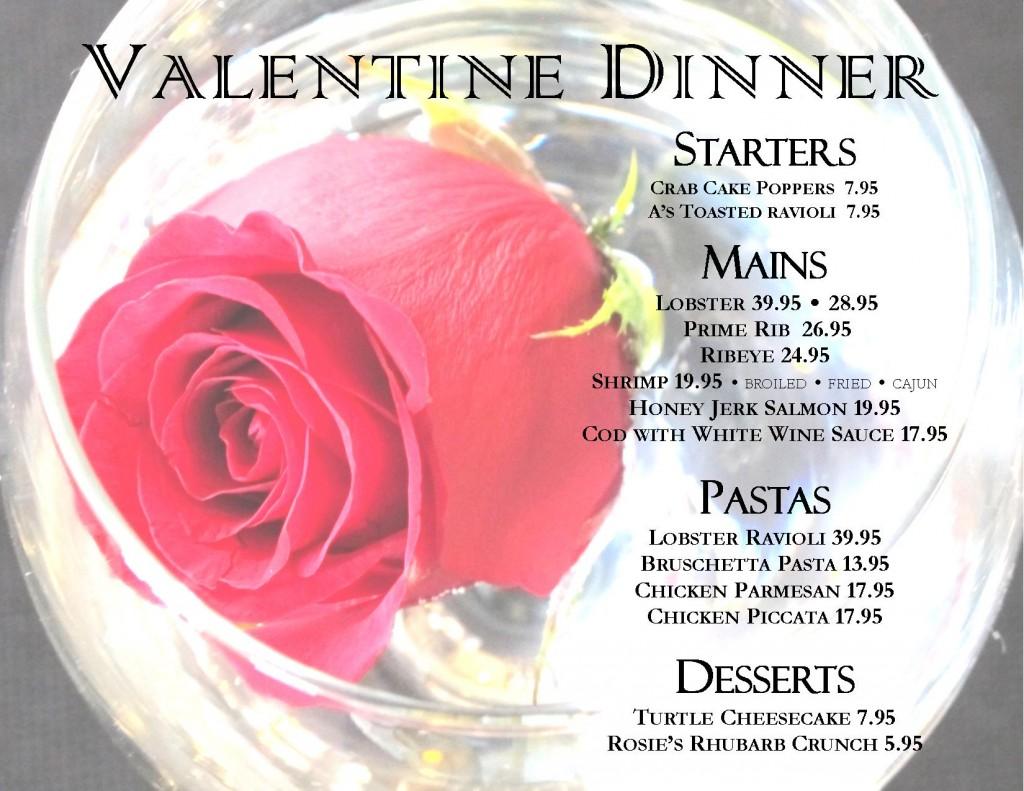 2019 Valentine Menu Flyer post w pricing